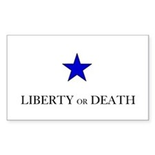Liberty Or Death Rectangle Decal