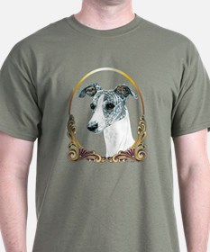 Brindle Whippet Christmas T-Shirt