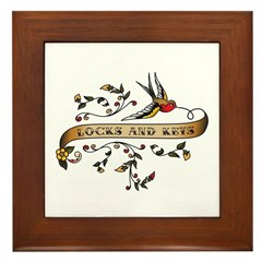 Locks and Keys Scroll Framed Tile