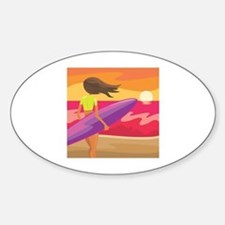 Surf Scape Oval Decal