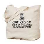 Confucius say IQ Tote Bag