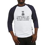 Confucius say IQ Baseball Jersey