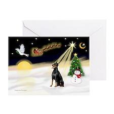 Night Flight/Dobie #1 Greeting Cards (Pk of 20)