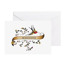 Knitting Scroll Greeting Card