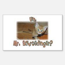 Schroedinger's Cat Alive Rectangle Decal
