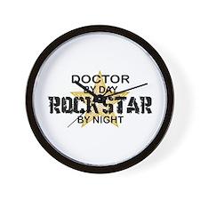 Doctor Rock Star by Night Wall Clock