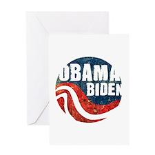 Obama Biden Grunge Greeting Card