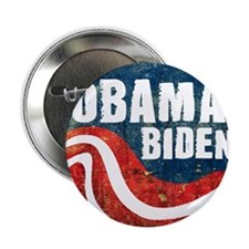 "Obama Biden Grunge 2.25"" Button (10 pack)"