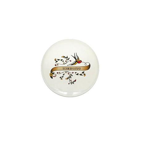 Hurdling Scroll Mini Button (100 pack)