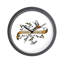 Human Resources Scroll Wall Clock