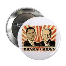 "Obama Biden Portraits 2.25"" Button"