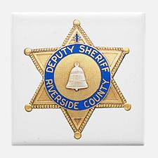 Riverside Sheriff Tile Coaster