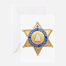 Riverside Sheriff Greeting Card