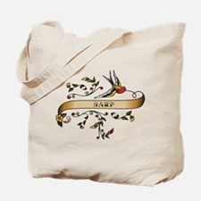 Harp Scroll Tote Bag