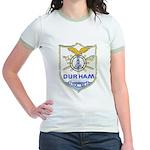 USS DURHAM Jr. Ringer T-Shirt