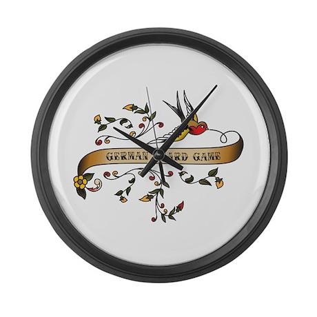 German Board Game Scroll Large Wall Clock