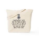 Confucius slogan Tote Bag