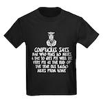 Confucius slogan Kids Dark T-Shirt