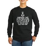 Confucius slogan Long Sleeve Dark T-Shirt