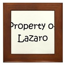 Cute Lazaro Framed Tile
