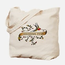 Fountain Pens Scroll Tote Bag