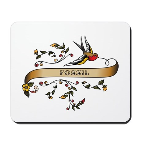 Fossil Scroll Mousepad