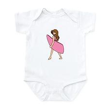 Pink Surf Board Infant Bodysuit