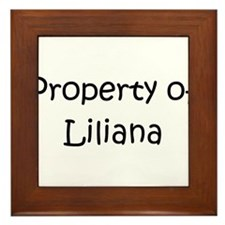 Funny Liliana Framed Tile