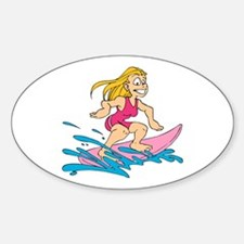 Ride the Wave Oval Decal