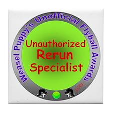 Unauthorized Rerun Spoof Flyball Award Tile Coaste