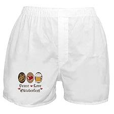 Peace Love Oktoberfest Boxer Shorts