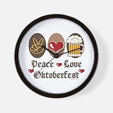 Peace Love Oktoberfest Wall Clock