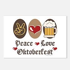Peace Love Oktoberfest Postcards (Package of 8)
