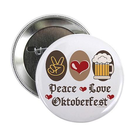 "Peace Love Oktoberfest 2.25"" Button (10 pack)"