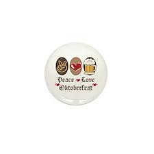 Peace Love Oktoberfest Mini Button (100 pack)