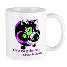 SCARY PIG ON THE LOOSE Mug