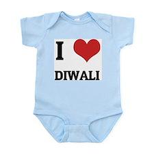 I Love Diwali Infant Creeper