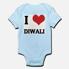 I Love Diwali Infant Creeper