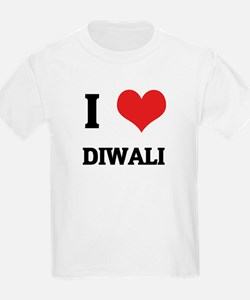 I Love Diwali Kids T-Shirt
