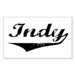 Indy Rectangle Sticker