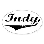 Indy Oval Sticker