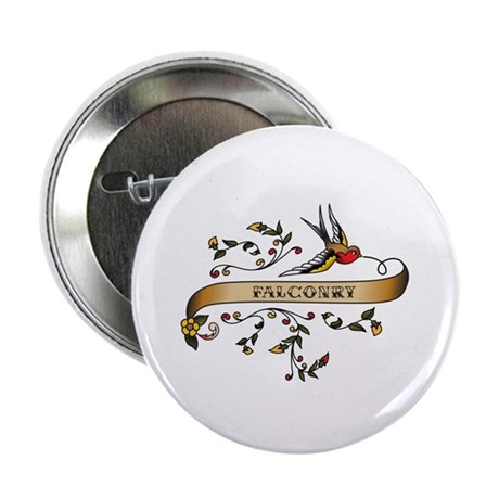 """Falconry Scroll 2.25"""" Button (100 pack)"""