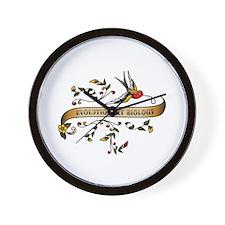 Evolutionary Biology Scroll Wall Clock