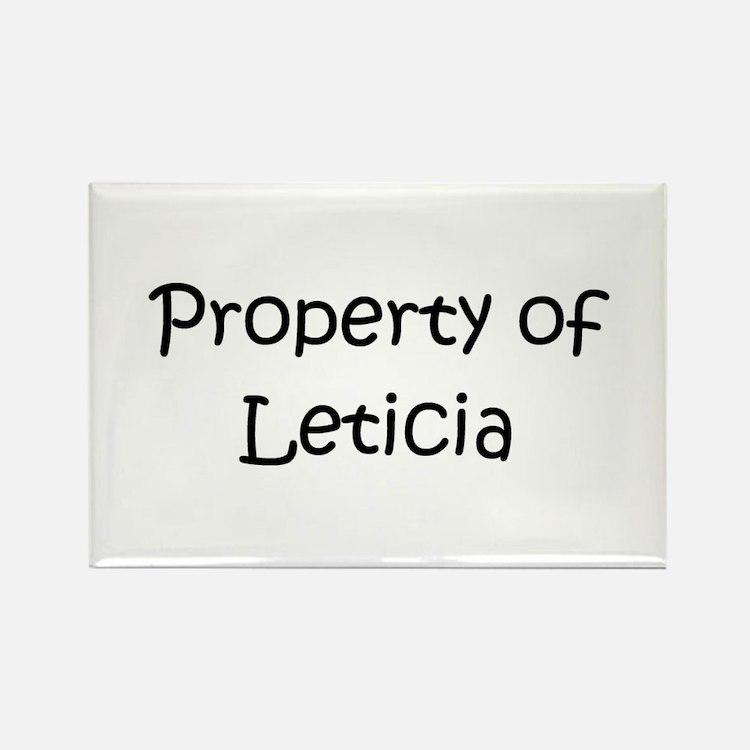 Cute Leticia Rectangle Magnet