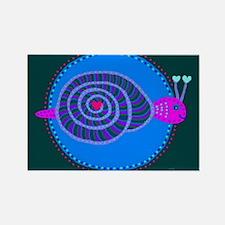 Snail Rectangle Magnet