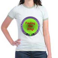 Fouling Flyball Spoof Award Jr. Ringer T-Shirt