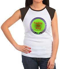 Fouling Flyball Spoof Award Women's Cap Sleeve T-S