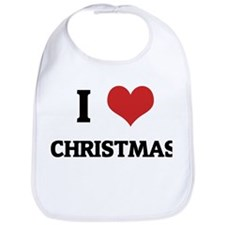 I Love Christmas Bib