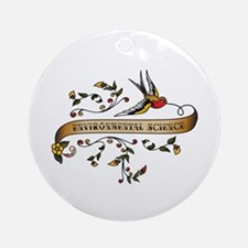 Environmental Science Scroll Ornament (Round)