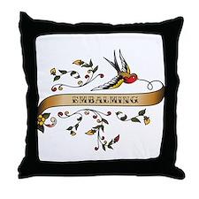 Embalming Scroll Throw Pillow